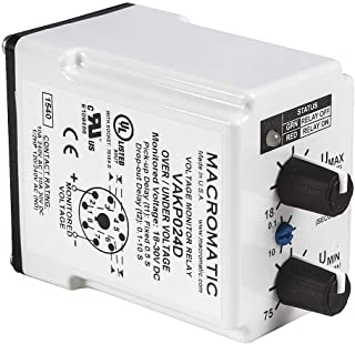 Voltage Monitor Relay, 120VC, Plug-In