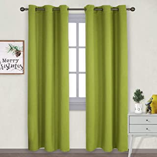 grey and lime curtains