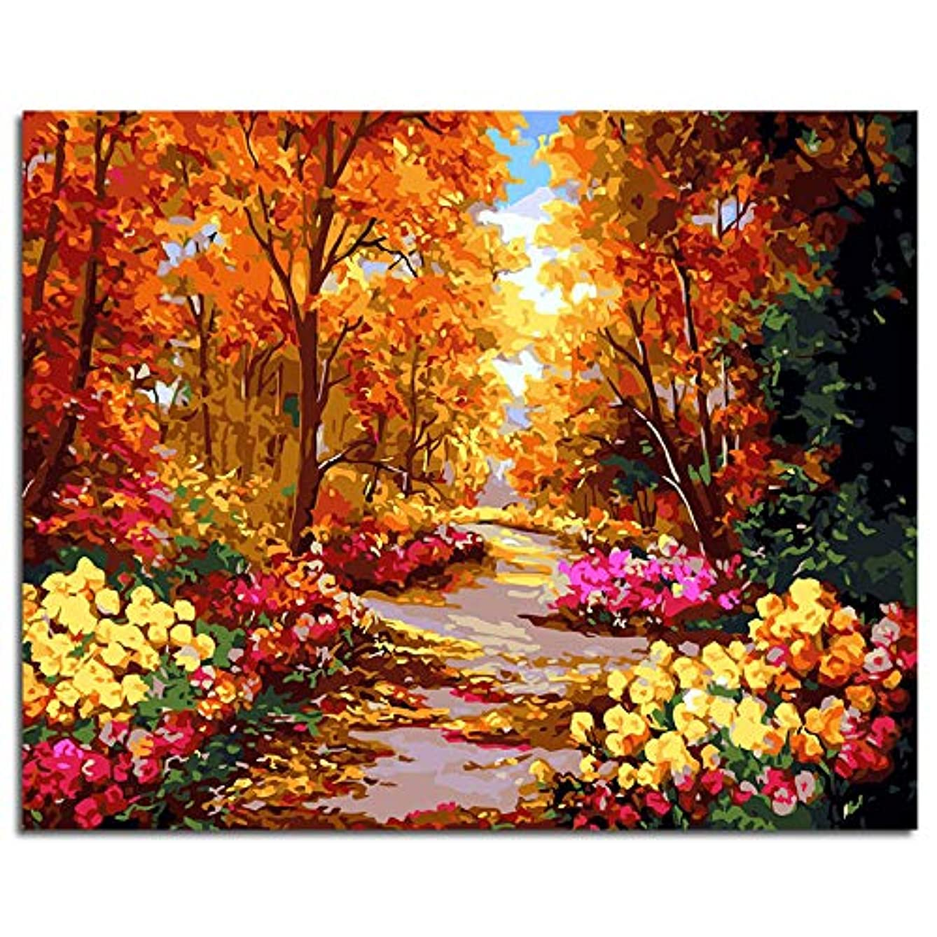 """Paint-by-Number Kits for Adults - Passion (Frameless) - Includes Brushes, Acrylic Paints and Numbered Canvas - Frameless - 16"""" x 20"""" – Great for Kids and Adults (Landscape)"""