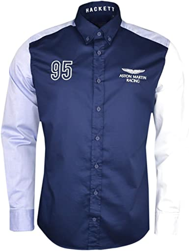Hackett London Amr Multi Panel Twill Camisa para Hombre ...