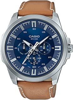 Casio Casual Watch Analog Display for Men MTP-SW310L-2AVDF, Blue