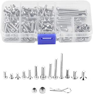 RC Screw Kit, Metal Stainless Steel Screw Kit with Box for Traxxas Slash 4x4 Short Truck Car Remote Control Spare Parts Accessory Fix Component