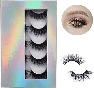 Beautykaisen False Eyelashes, 3D Mink Lashes with Dramatic Look 100% Handmade & Cruelty-Free 5 Pairs