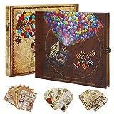 Nuestro libro de aventuras de scrapbook, álbum de recortes, diseño retro, páginas interiores, cuaderno de aventura para diario, viajes, boda, aniversario (incluido marcapáginas, pegatinas de sello)