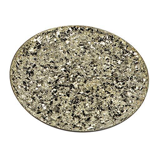 Formano Deko-Teller aus Metall, rund, 29cm, 1 Stück, Champagner-Gold