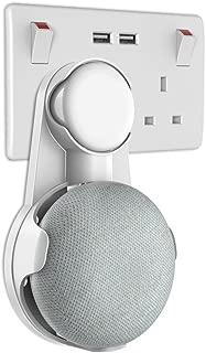 Gelink Socket Wall Mount for Google Home Mini, Nest Mini (2nd gen) Holder Stand Hanger Plug in Kitchen Bathroom Bedroom, Hides the Long Cord (White)