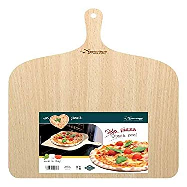 "Eppicotispai Birchwood Pizza Peel, 14.75 by 19.70"", Cream"