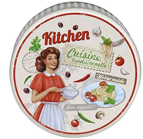 AVENUELAFAYETTE Boîte métal Cuisine Ronde Vintage rétro Kitchen (M2)