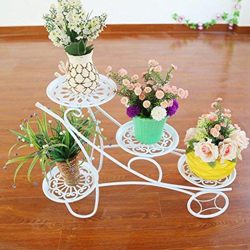 Cadre en fleur de fer Balcons étagère en paroi intérieur Living Room Flower Flower Frame (80 * 54cm) (Couleur : Blanc)