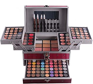 FantasyDay Pro 132 Colors All In One Ultimate Color Makeup Kit Carry All Trunk Cosmetic Contouring Palette (Concealer, Face Powder, Lipgloss, Blusher, Contour Shade, Eye Liner and Eyebrow powder) #1