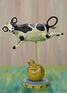 Lori Mitchell Cow Jumped Over The Moon New Collectible Figurine