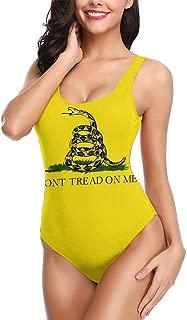 Dont Tread On Me Gadsden Flag Snake Women's Bikini Swimwear Beach Suit Bathing Suits One-Piece Swimsuit