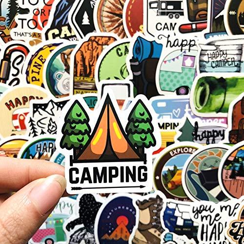 HENJIA Niedliche Graffiti Aufkleber Camp Reisegepäck Auto Skateboard Aufkleber Wasserdichter Laptop Kühlschrank Gitarre Aufkleber 50St