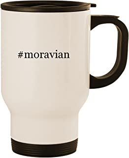 #moravian - Stainless Steel 14oz Road Ready Travel Mug, White