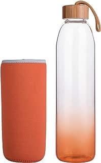 Life4u Reusable Sport Borosilicate Glass Water Bottle with Neoprene Sleeve BPA Free 16 oz / 32 oz