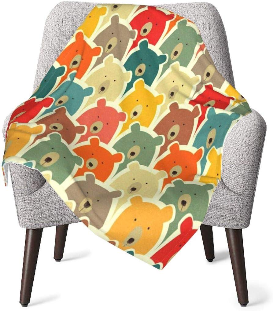 GOWINEU Manta Suave para bebé con Osos, Ideal para niños, tamaño práctico, 30 x 40 Pulgadas