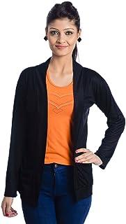 Teemoods Women's Viscose/Modal Full Sleeve Shrug with Pockets, Summer Shrug for Girls, Ladies