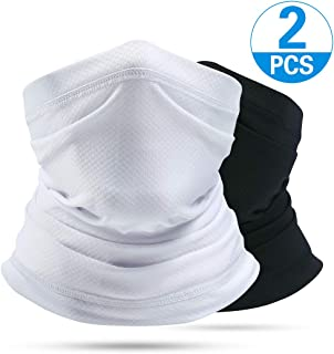Venswell Summer Face Mask, Dust Sun UV Protection Neck Gaiter, Breathable &Elastic Face Scarf Mask, Multiple Cool Bandana for Fishing Hiking Cycling Riding