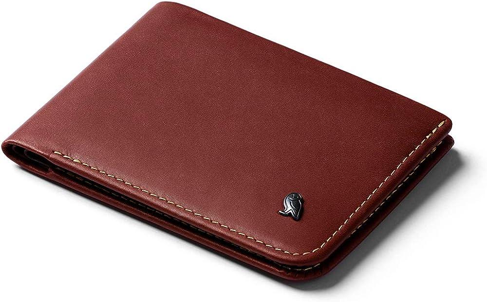 Bellroy hide & seek wallet, portafoglio sottile in pelle per uomo, porta carte di credito, WHSE-REA-311