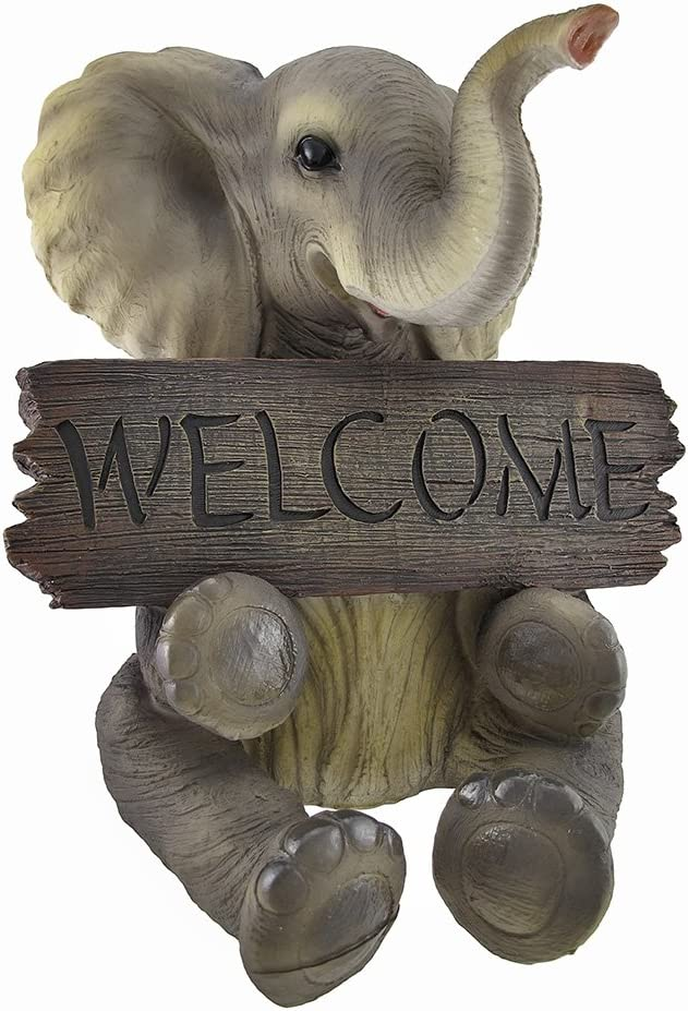 Adorable `Pachy Princess` Baby Minneapolis Mall At the price of surprise Elephant Deco `Welcome` Home Sign