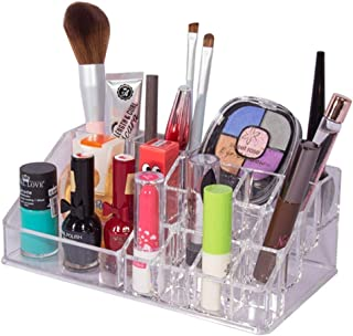 Homesmiths Hiqh Quality Cosmetic and Makeup Storage Organizer, Jewelery Display Box, Set of 3 with total 20 Compartments