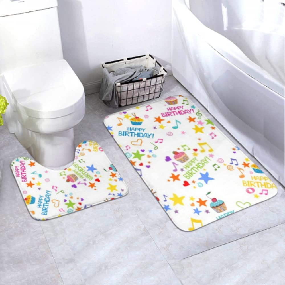 Bath Mat Safety and trust Set Happy Birthday Wrapping Paper Piece 2 OFFicial mail order Area Musical