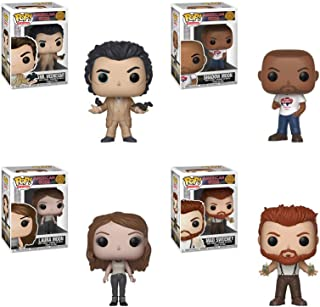POP Television: American Gods Mr. Wednesday, Laura Moon, Shadow Moon, Mad Sweeney Vinyl Figures Set