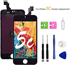 VANYUST for iPhone 5C Screen Replacement, LCD Display Touch Screen Digitizer Assembly with Tool Kits Compatible for iPhone 5C Black