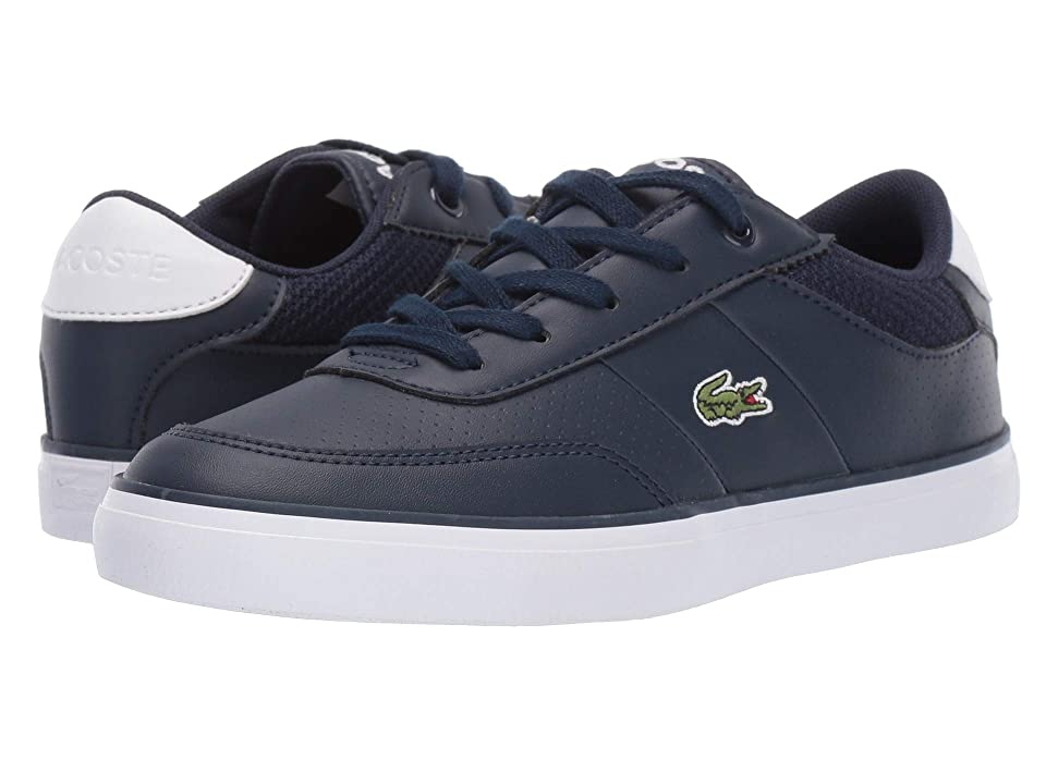 Lacoste Kids Court-Master 119 4 CUC (Little Kid) (Navy/White) Kid