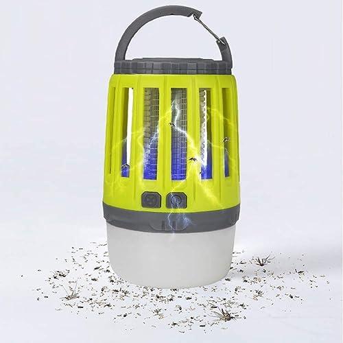 Portable 2 en 1 Lampe Solaire Tueur De Moustique Chargement USB avec Batterie Rechargeable Ipx6 étanche pour De Plein Air Jardin Camping Voyage Randonnée