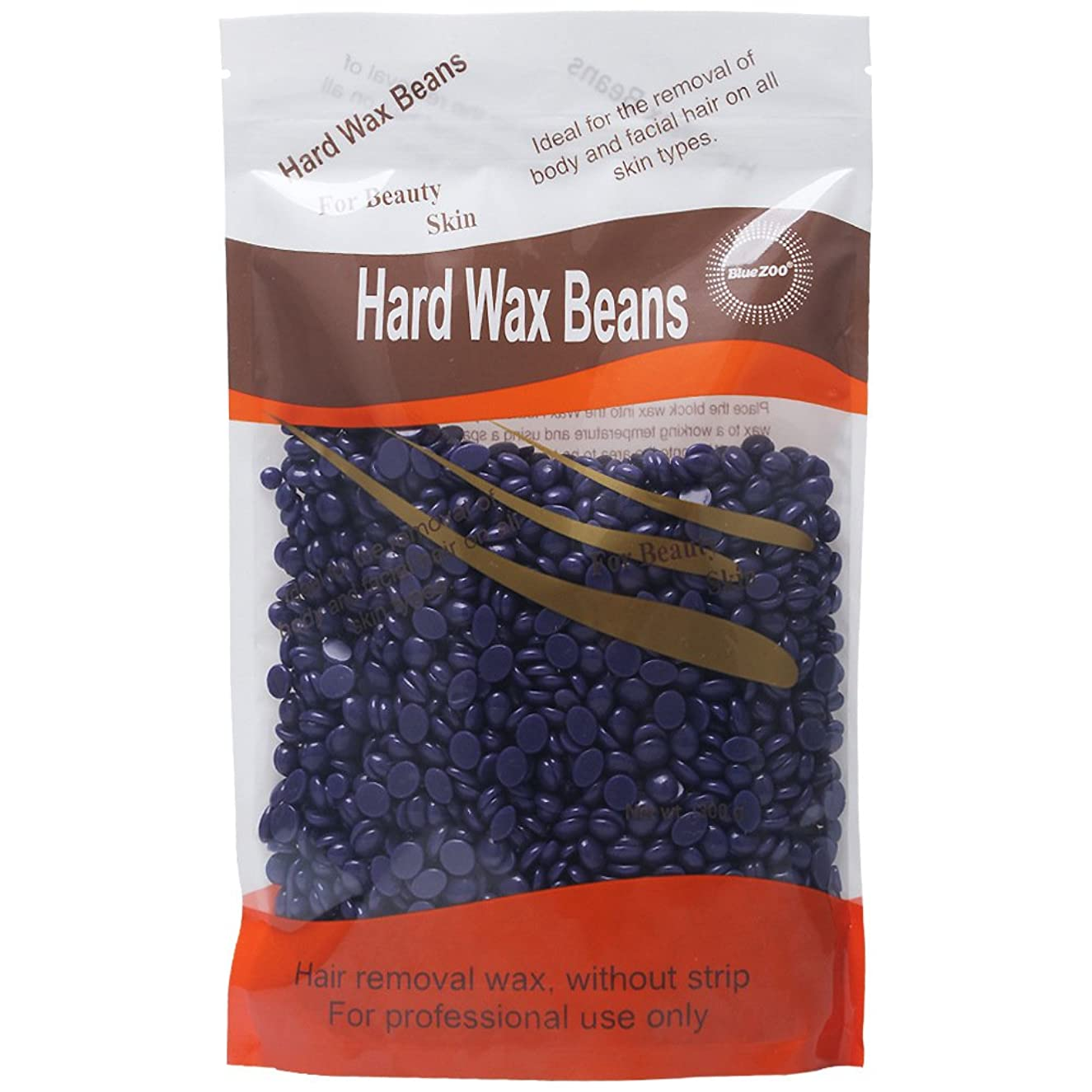 BlueZoo Waxing Hair Removal Hard Wax Beans Low Temperature Natural Hot Film Depilatory No Strips 300g (Lavender)
