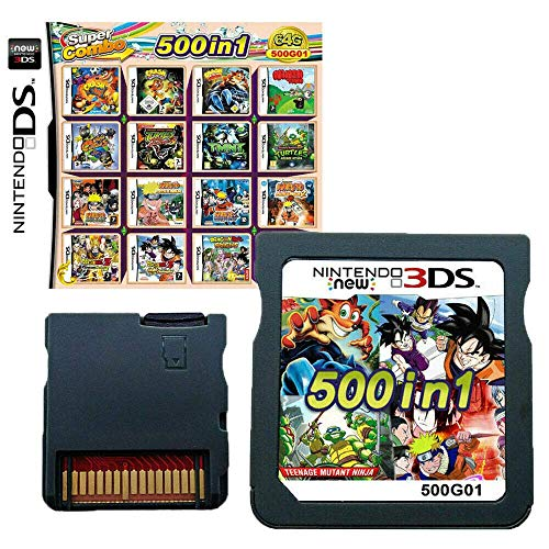 500 in 1 Game Cartridge Multicart Game Pack Card Super Combo for Nintendo DS/NDS/NDSL/NDSi/3DS/2DS XL