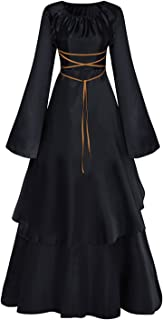 Women Vintage Halloween Cosplay Costume Medieval Gothic Victorian Dress S-3XL