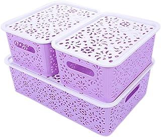 UPKOCH Cubes de Rangement en Plastique Boîte Vêtements Organisateur Panier pour Art Artisanat Vêtements Cosmétiques Papier...