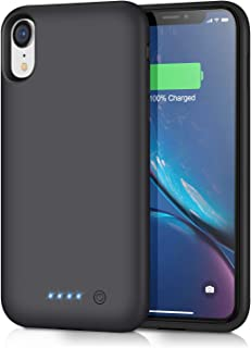 Battery Case for iPhone XR [6800mAh] Gixvdcu Rechargeable Protective Portable Charging Case for Apple iPhone XR Extended Charger Pack Power Bank - Black