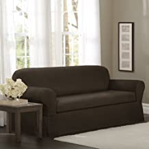 Maytex Torie Stretch 2Piece Loveseat Furniture Cover/Slipcover, Chocolate