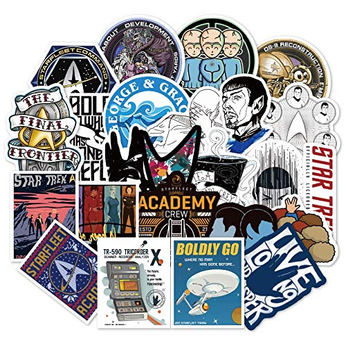 Star Trek Space Cartoon Graffiti Sticker Travel Box Skateboard Guitar Car Waterproof Wallpaper Toys Stickers 36Pcs