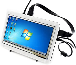 Waveshare 7 Inch Capacitive Touch Screen LCD Display HDMI Monitor 800x480 Supports Various Systems for Raspberry Pi Beagle...