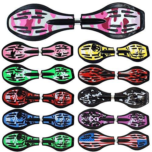 FunTomia Waveboard Original Mach1 Kugellager inkl. Tasche und CD (Verschiedene Farbdesigns) (Pink/Army)