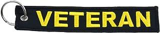 Apex Imports US Military Veteran Black/Yellow Remove Before Flight Key Chain 5.5