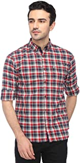 French Connection Mens Button Front Collar Check Shirt_Multi-Coloured