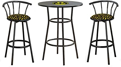 832600f85068 Amazon.com: Winsome Summit Pub Table and 2 Swivel Stool Set, 3-Piece ...