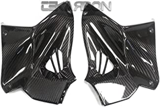 Tekarbon, Replacement for Front Side Tank Panels, Kawasaki H2 H2R (2015-2019), Carbon Fiber, 2x2 Twill Weave