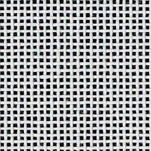 "Zweigart Orange Line Blank MonoDeluxe 13-Mesh White Needlepoint Canvas 20"" X 18"""