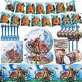 Juego de accesorios de fiesta de 62 piezas para niños, decoración de cumpleaños de Raya and the last dragon, platos, tazas, servilletas manteles, para fiestas y cumpleaños infantiles