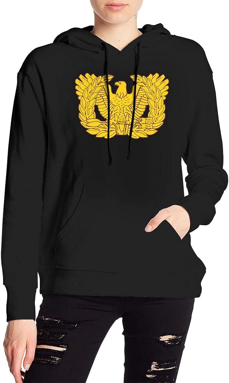 Warrant Officer Emblem Sweater Casual Hooded Sweatshirt With Pocket For Men Women