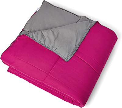 Hush Ultra Soft (Reversible) Comforter (90 x 100 Inch) I Imported Micro Fiber Filling I Colours: Pink + Grey I Machine Washable I Soft Feel