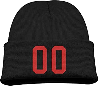 Wangqumi 00 Sports Jersey Football Number Zero Top Level Unisex Beanie Hat For Cute Baby Boy/Girl Soft Toddler Infant Cap Take Care Of Your Head, Warm And Comfortable Soft And Elastic