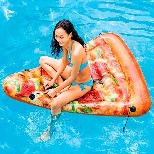 Bavaria Home Style Collection Matratze - Luftmatratze - Pizza - Pizza Stück - für absoluten Badespaß ! . Größe aufgeblasen: ca. 175 x 145 cm Badespaß