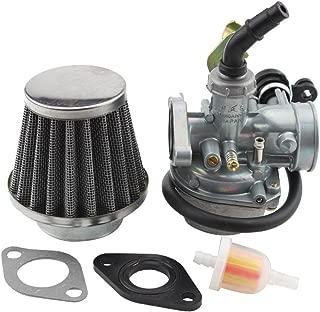 GOOFIT Carburatore Minimoto 19mm PZ19 con Filtro Aria 35 con Tubo Carburante per XR CRF 50cc 70cc 90cc 110cc 125cc Scooter e Ciclomotore ATV Quad Verde